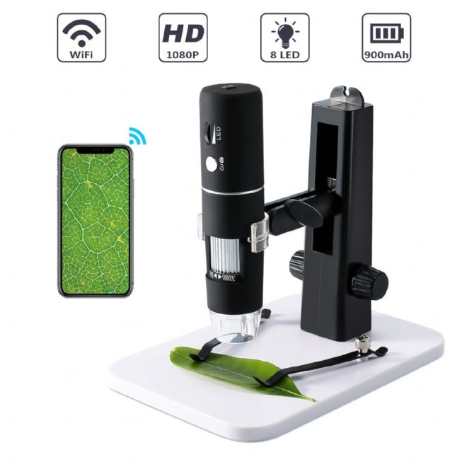GXM 1080PWDM-18G Portable WiFI Digital Microscope with Stand 1080P to 230X